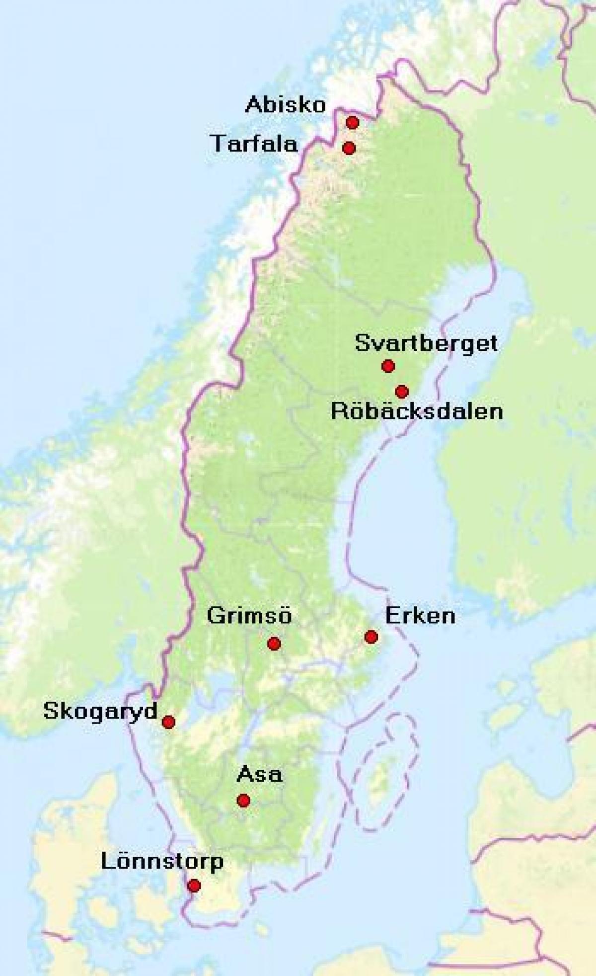 Karta Riksgransen Abisko.Abisko Karta