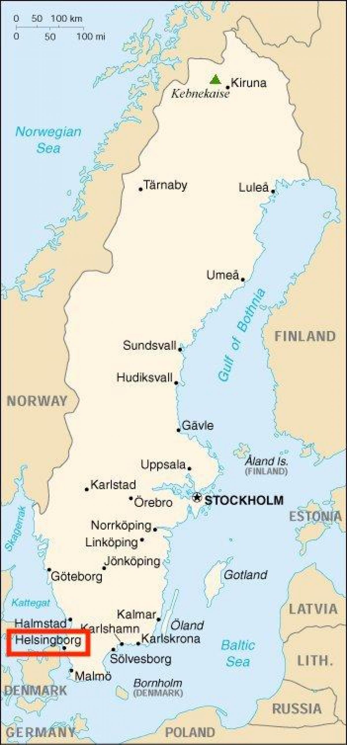 Helsingborg Karta Sverige Karta 2020