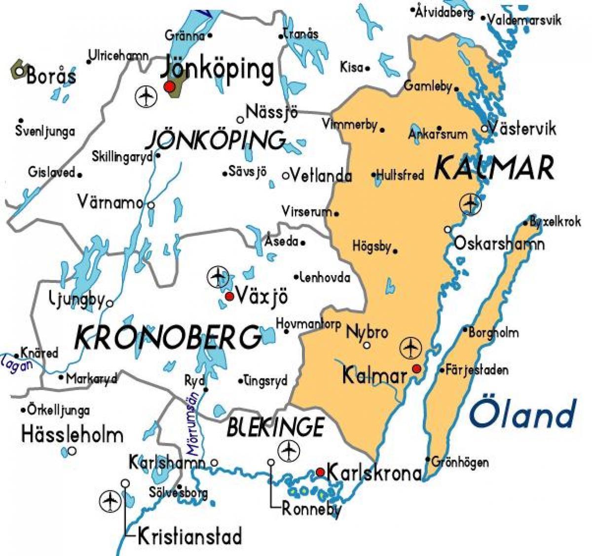 Karta Sverige Vimmerby.Kalmar Karta Sverige Kalmar Sverige Karta Norra Europa Europa