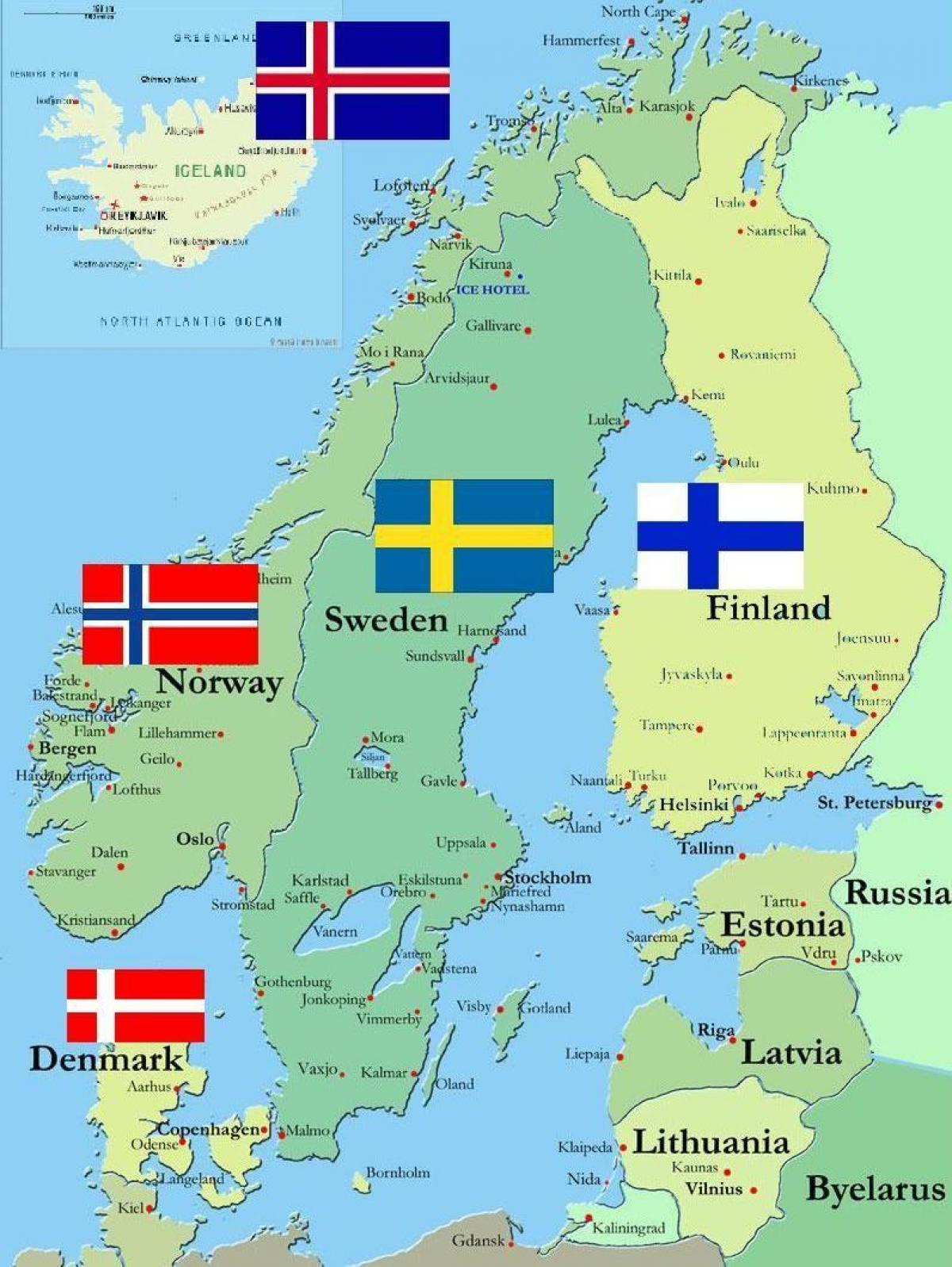 Karta Lander I Europa.Karta Over Sverige Och Omgivande Lander Sverige Surround Lander
