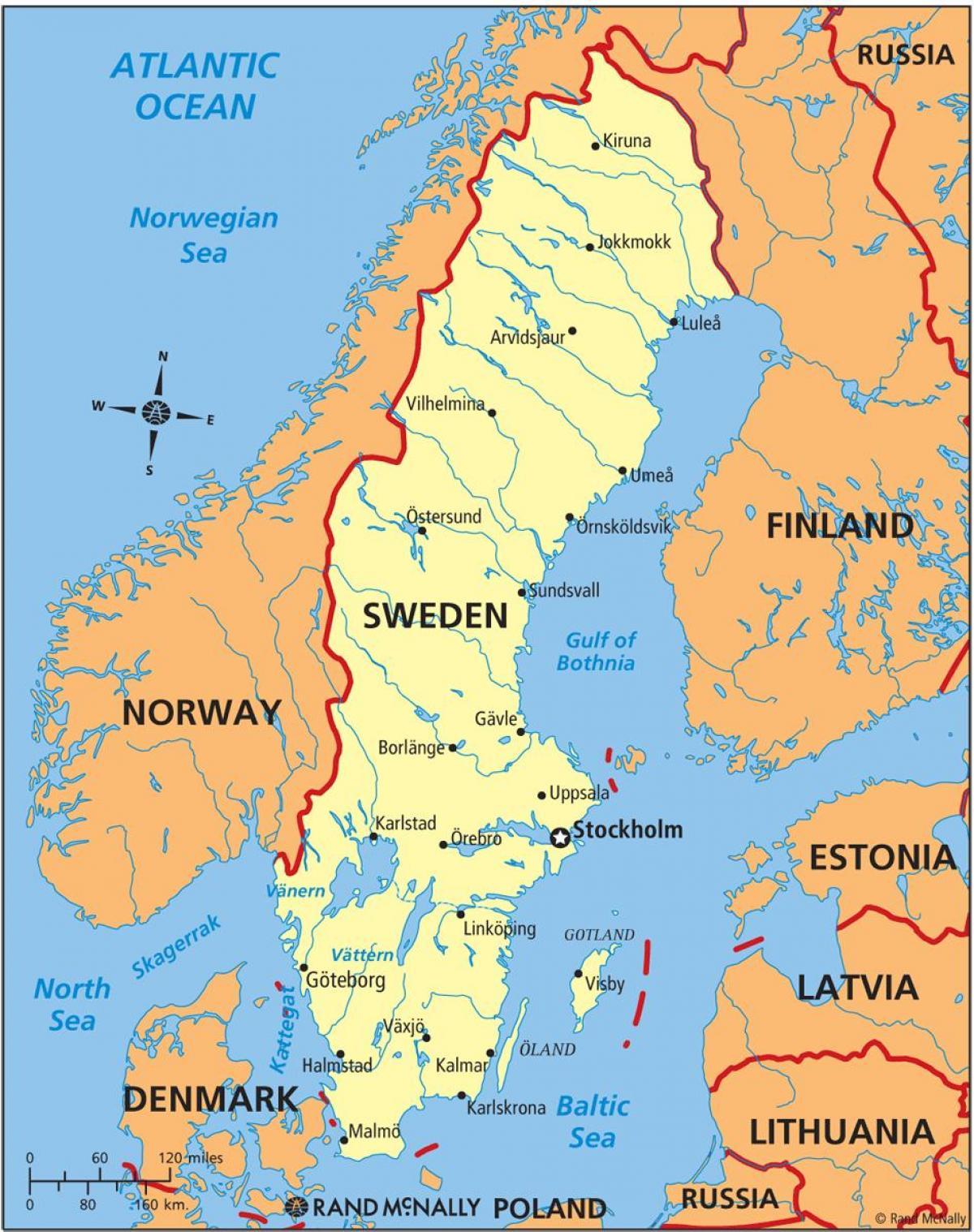 karta över norra europa Karta över Sverige   Sverige karta (Norra Europa   Europa) karta över norra europa