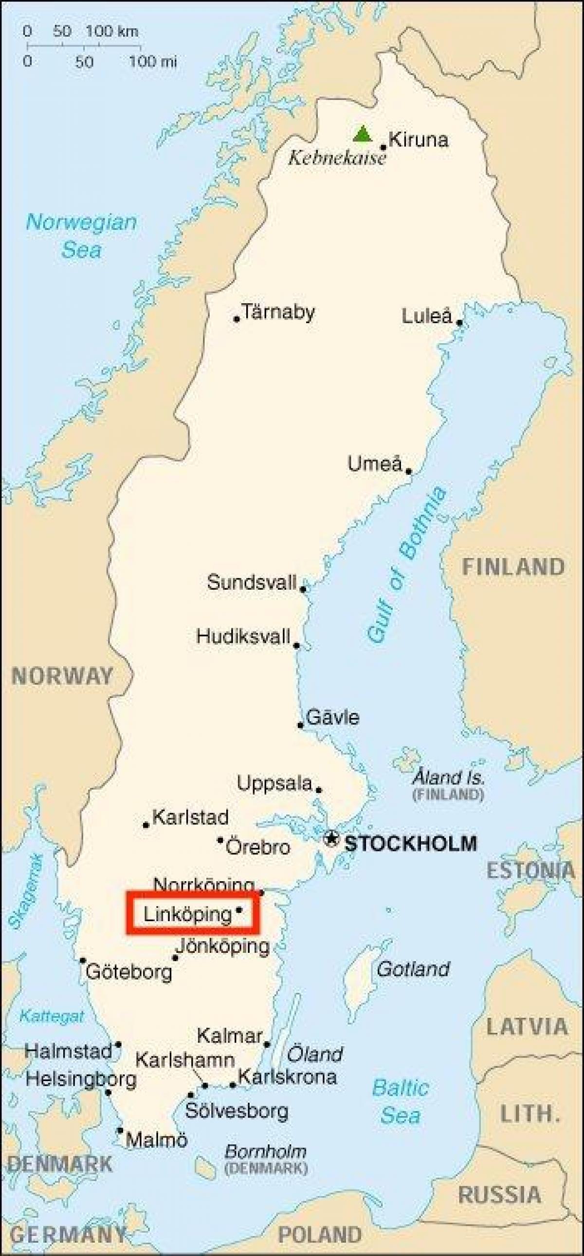 Linkoping Karta Sverige Karta 2020