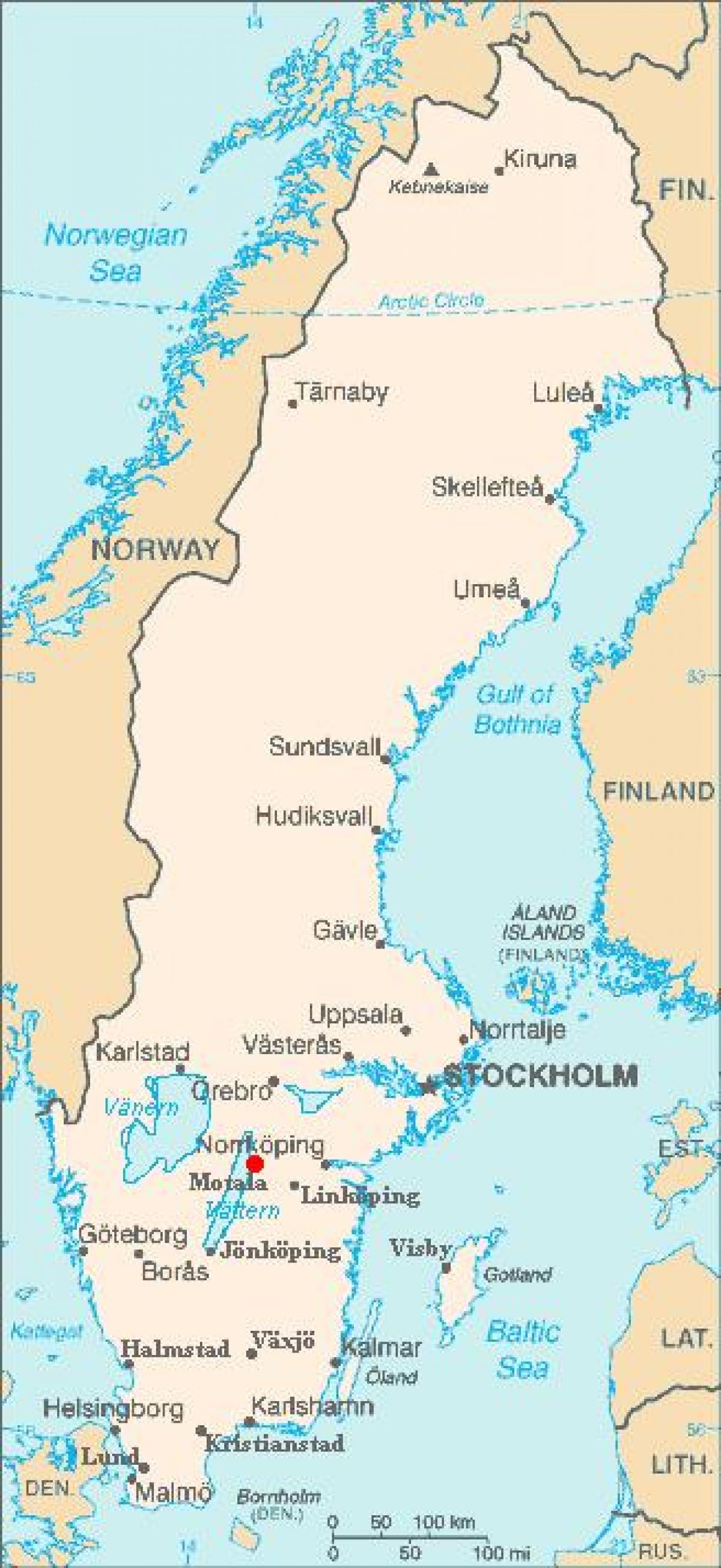 Motala Sverige Karta Karta 2020