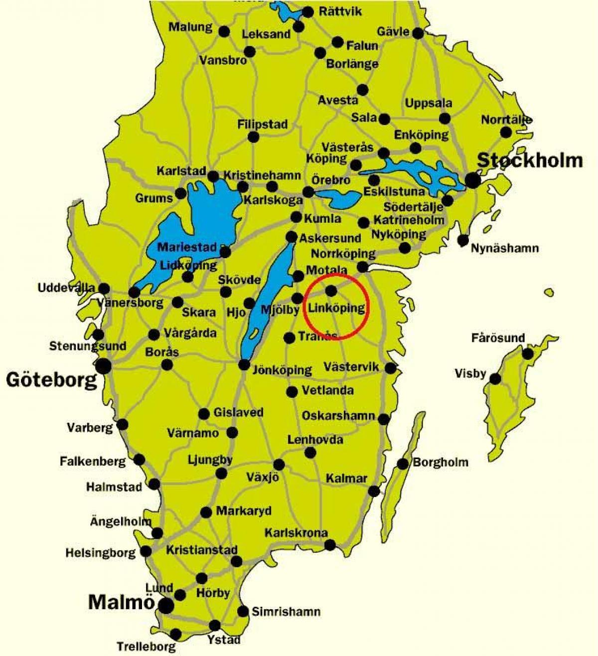 Karta Sverige Borlange.Sodra Sverige Karta Karta Over Sodra Sverige Norra Europa Europa