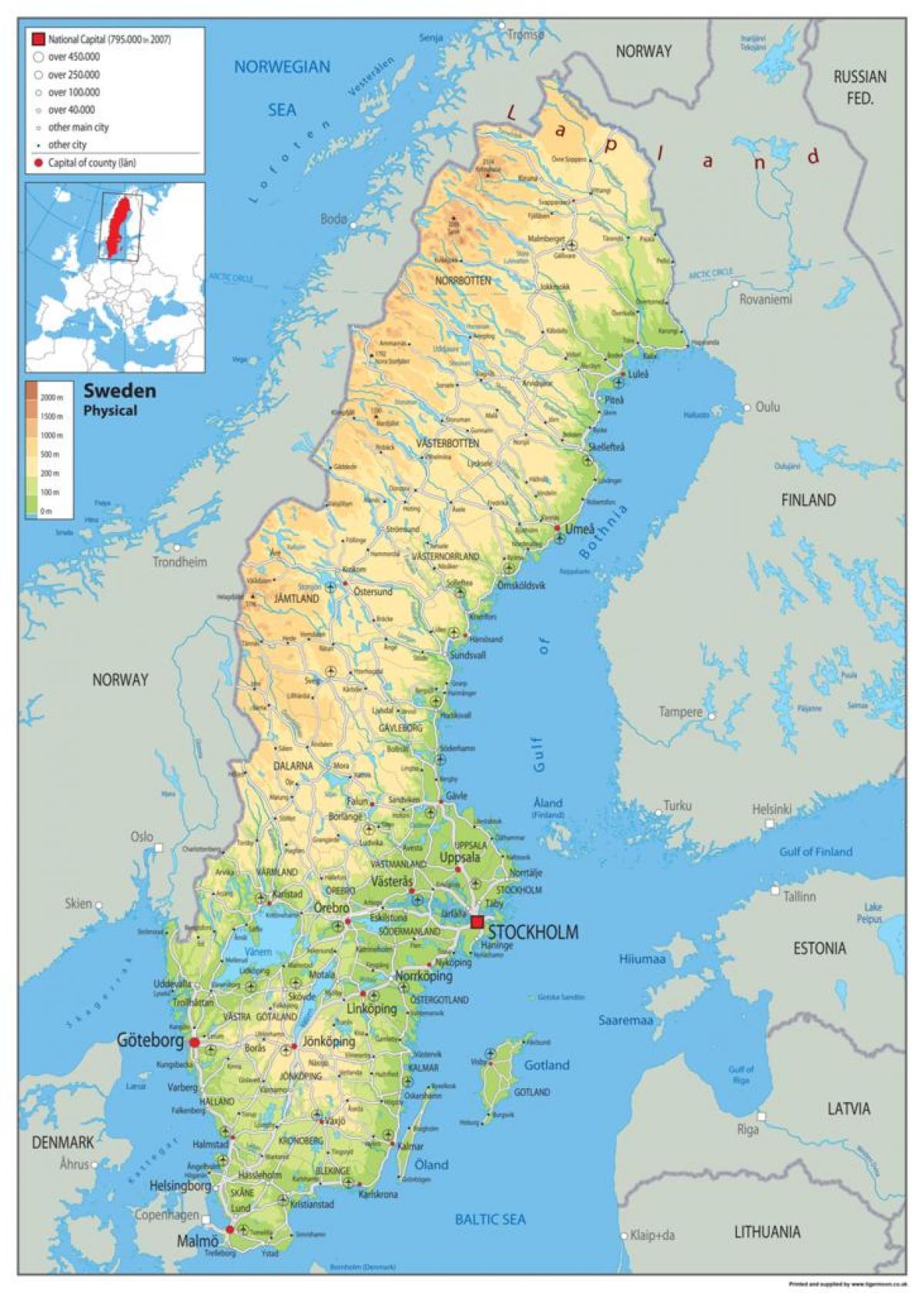 Karta Over Norra Sverige Karta 2020