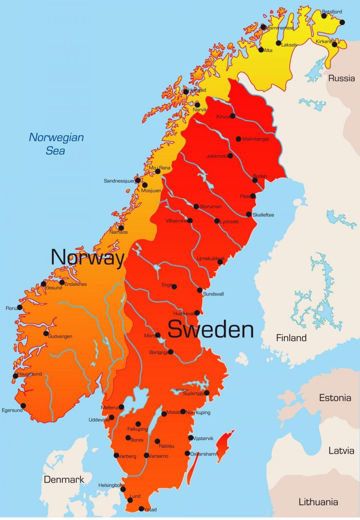 Karta Over Stader I Sverige Karta 2020